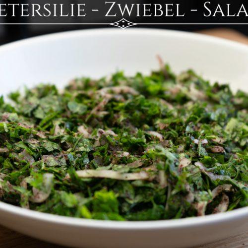 Zwiebel Petersilien Salat